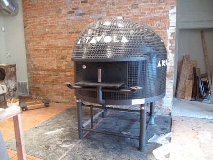 A Tavola's pizza oven made in Naples, Italy