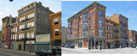 Before and After: 12th Street and Vine Street, OTR Gateway Quarter