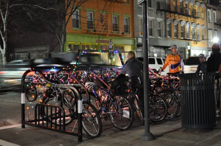 Over-the-Rhine's first bike corral, photo by Michael Providenti