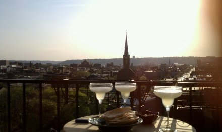 Dinner on Liberty Hill overlooking Over-the-Rhine, photo by Christy Samad