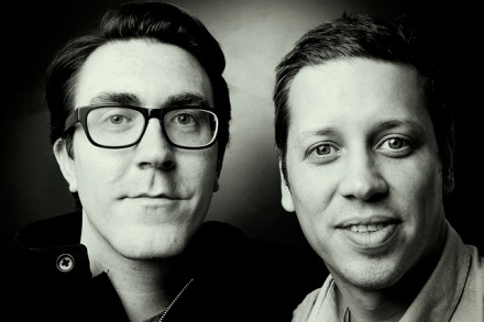 Business partners Micah Paldino of PB&J PR and Emmit Jones of SYN/TAX