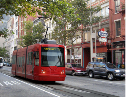 Cincinnati-Streetcar-on-Main-Street via Urban Cincy