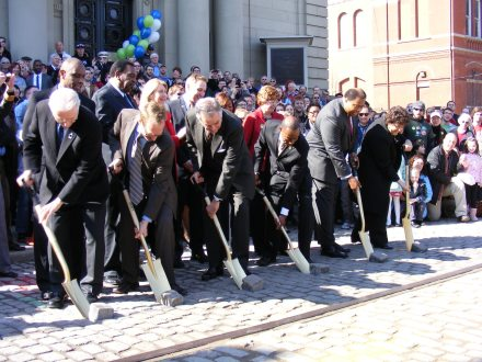 Cincinnati Streetcar Groundbreaking, via Mayor Mark Mallory