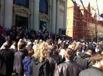 The overflowing crowd outside Memorial Hall, via Eric Vosmeier