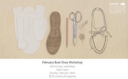 Smartfish Studio and Sustainable Supply Boat Shoe workshop