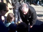 Secretary of Transportation Ray LaHood meeting the crowd, via David Dawson