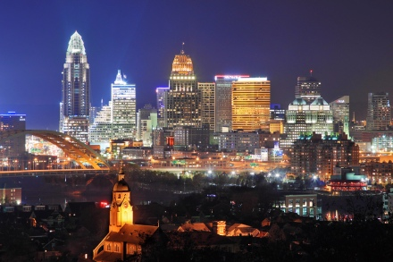 Downtown Cincinnati by Aaron Davidson