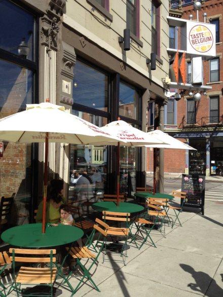 Taste of Belgium patio