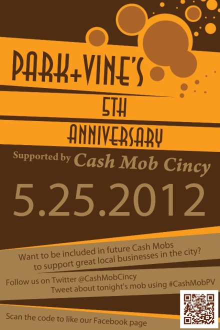Cash Mob Cincy at Park + Vine